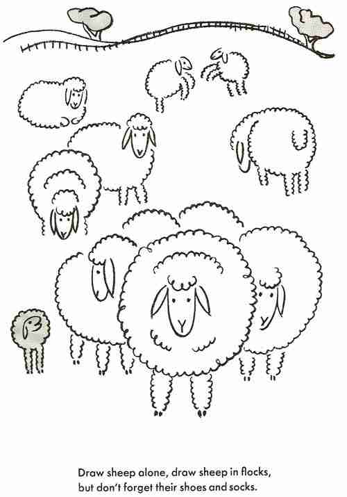 How To Draw Sheep