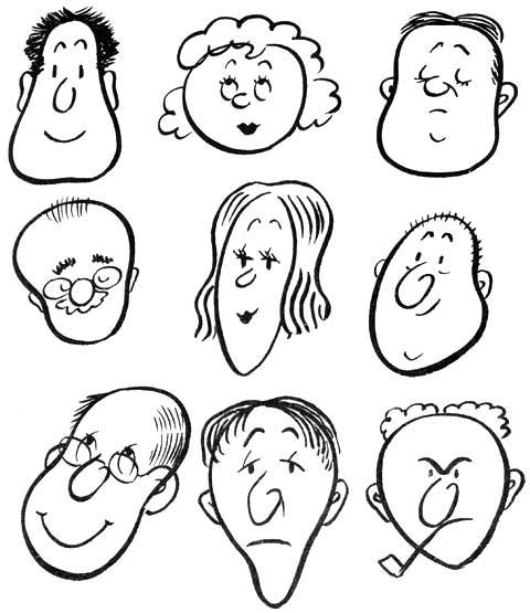 some cartoon heads are egg heads