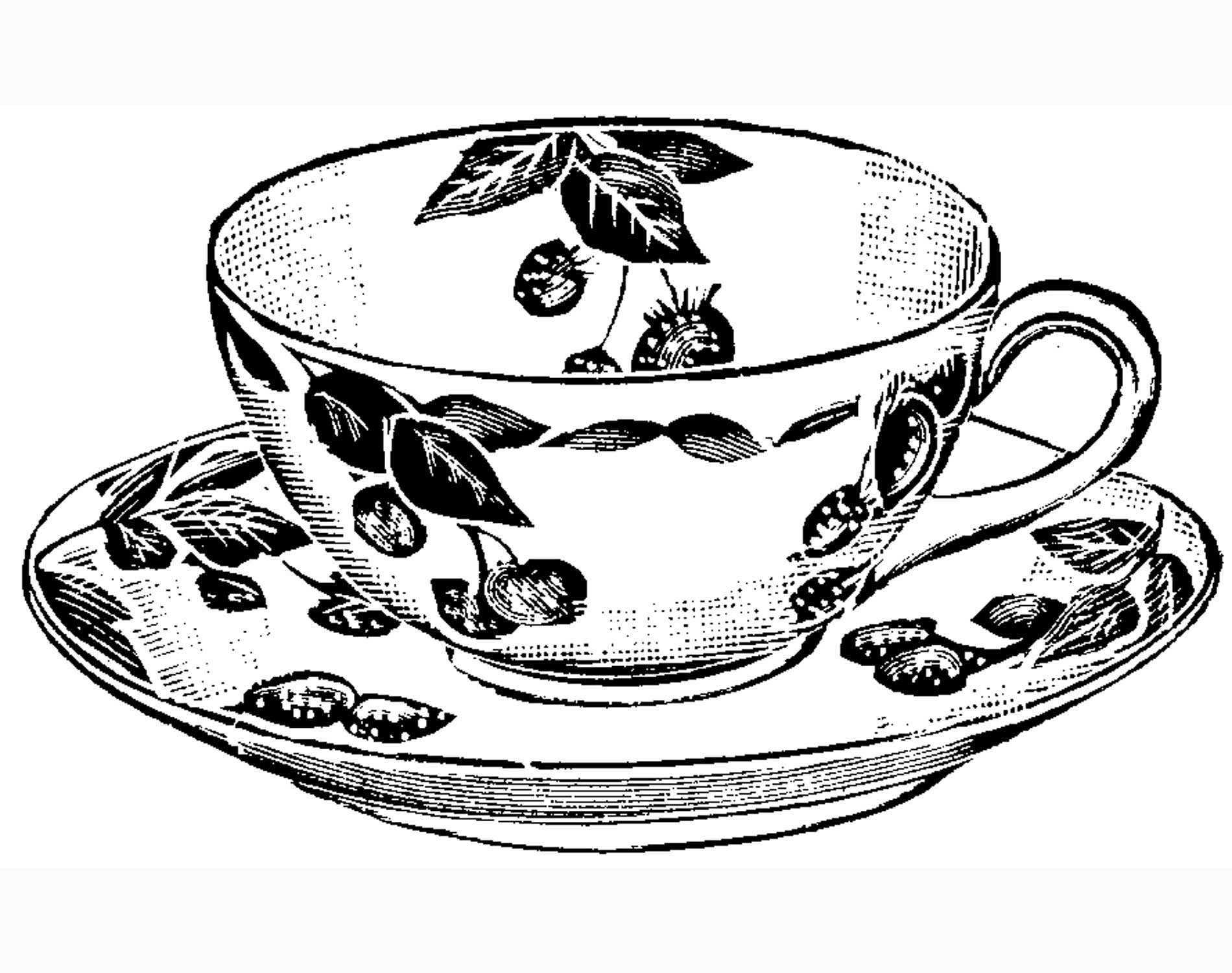 printable tea cup coloring pages - photo#10