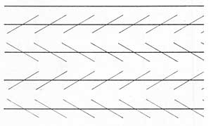 an optical illusion made with nothing more than linies