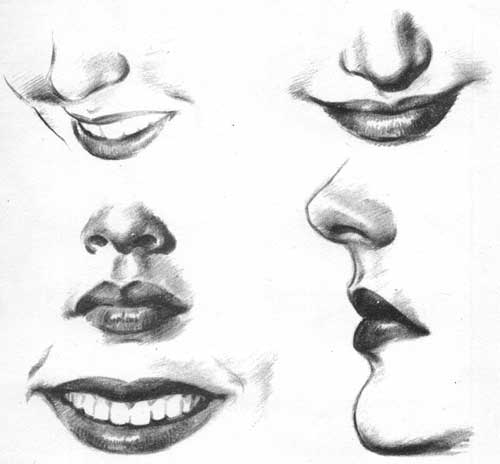 Expressive Eyes Drawing Lips Are Expressive
